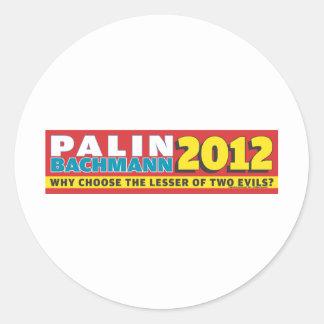 Palin Bachmann 2012 Pegatina