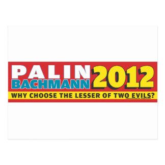 Palin Bachmann 2012 Postcard