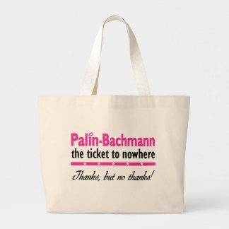 Palin-Bachmann en ninguna parte Bolsa De Tela Grande