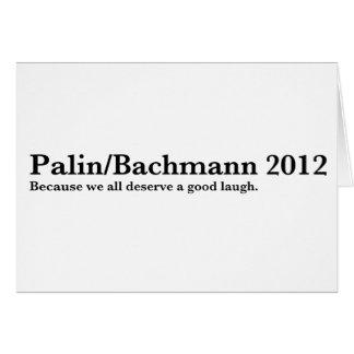 Palin/Bachmann Greeting Card