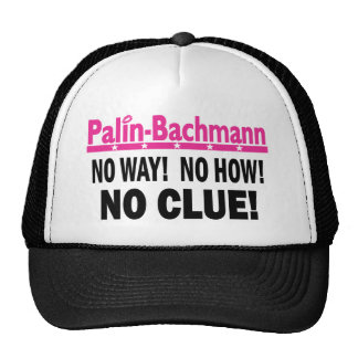 Palin - Bachmann ninguna pista Gorros Bordados