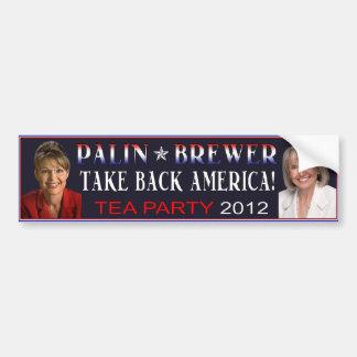Palin Brewer 2012 Bumper Sticker