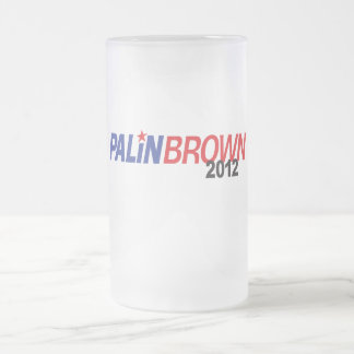 Palin Brown 2012 16 Oz Frosted Glass Beer Mug