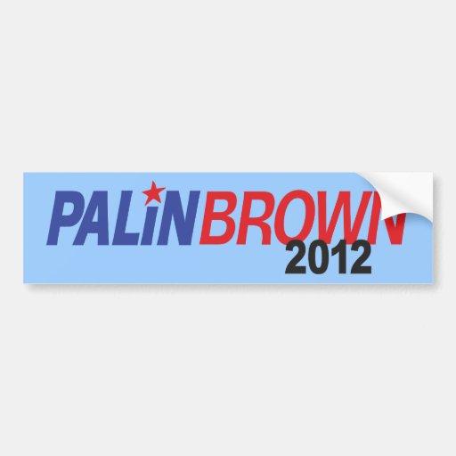 Palin Brown 2012 Pegatina De Parachoque
