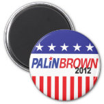 Palin Brown 2012 Refrigerator Magnets