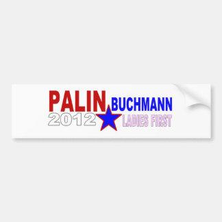 Palin-Buchmann 2012 (señoras primero) Pegatina Para Auto