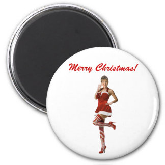 Palin Christmas(t shirt, xmas cards, buttons) 2 Inch Round Magnet