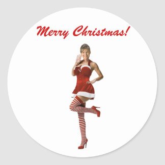 Palin Christmas(t shirt, xmas cards, buttons) Classic Round Sticker