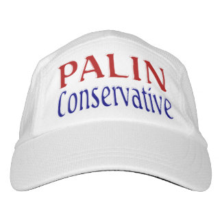 Palin Conservative Performance Hat 2, red & blue