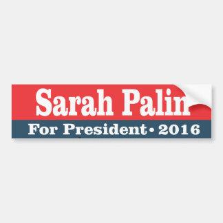 palin de Sarah para el presidente 2016 Pegatina Para Auto