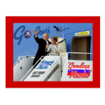 Palin dirige al sur para ser un organizador de la  postal