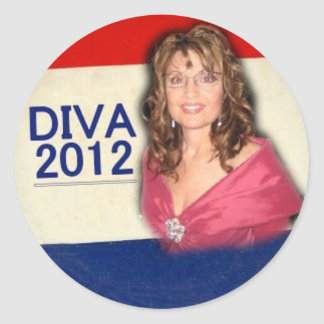 Palin Diva 2012 Round Stickers