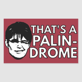 Palin Drome Pegatina Rectangular