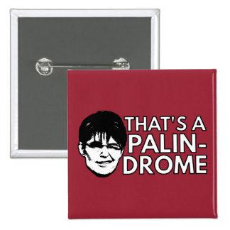 Palin Drome Pin Cuadrada 5 Cm