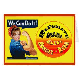 Palin el remachador - Refudiate Obama - elija Romn Tarjeta De Felicitación