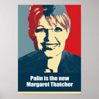 Palin es nueva Margaret Thatcher Póster