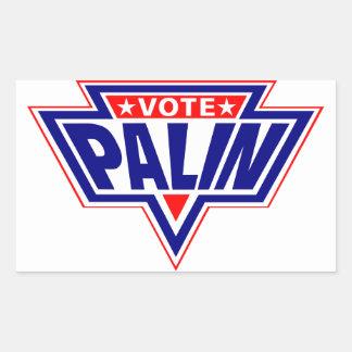 Palin estupendo rectangular pegatinas