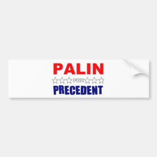 Palin For Precedent Bumper Sticker