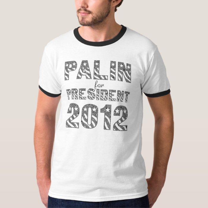Palin for President 2012 Mens Ringer Shirt