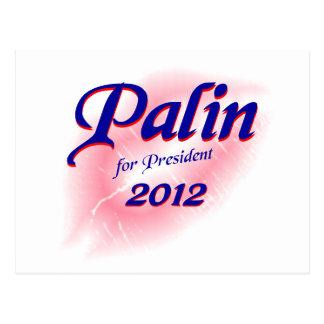 Palin for Prez 2012 Postcard
