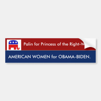 Palin for Princess of the Right-Wing Car Bumper Sticker