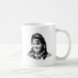 Palin hace frente taza de café