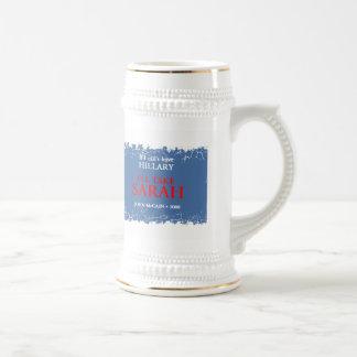 Palin HILLARY Stein 18 Oz Beer Stein