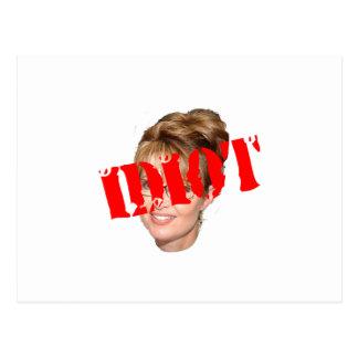 Palin Idiot Postcard