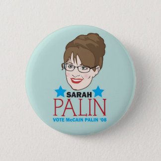 Palin Illustrated Button