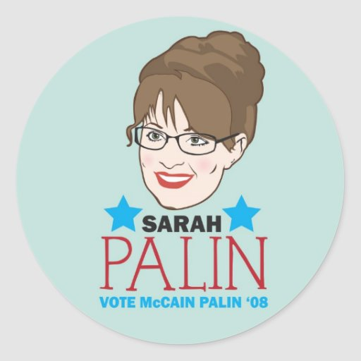 Palin ilustró al pegatina