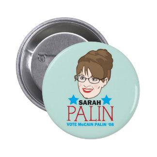 Palin ilustró el botón pins