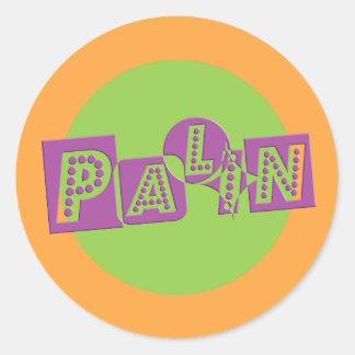 Palin in Style Classic Round Sticker