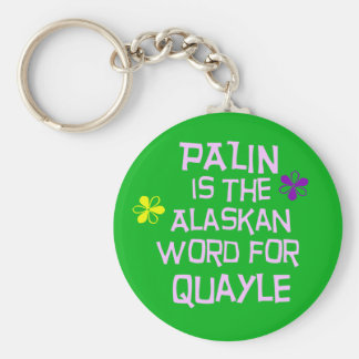 Palin is the Alaskan Word for Quayle Basic Round Button Keychain