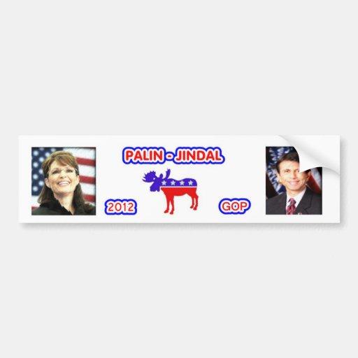 Palin - Jindal 2012 Bumper Sticker