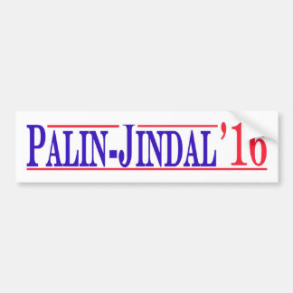 ¡Palin - Jindal 2016! Etiqueta De Parachoque