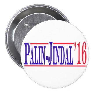 ¡Palin-Jindal 2016! Pin Redondo 7 Cm