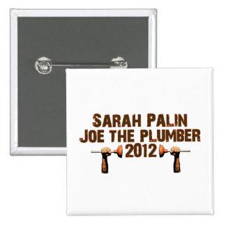 Palin Joe el fontanero 2012 Pin Cuadrado