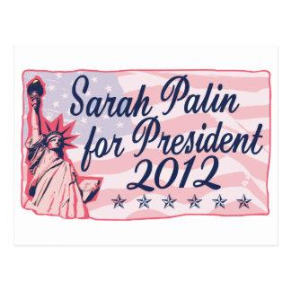 Palin Lady Liberty Post Card