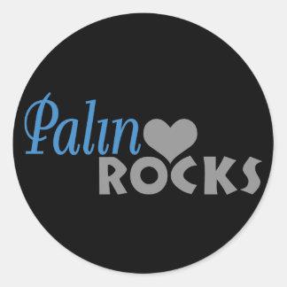 Palin oscila mi corazón pegatina redonda