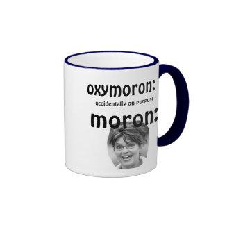 Palin oxymoron coffee mugs