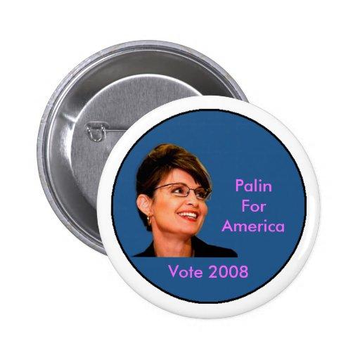 Palin para América Pins