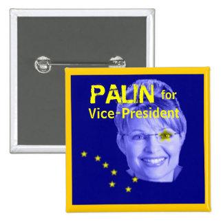 Palin para el botón cuadrado de Veep Pins