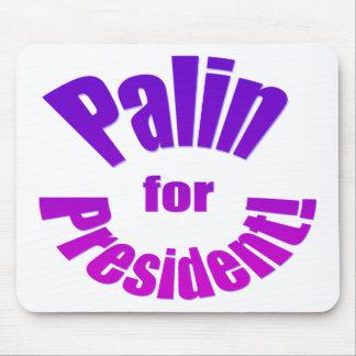 Palin para el presidente en 2012 tapetes de raton