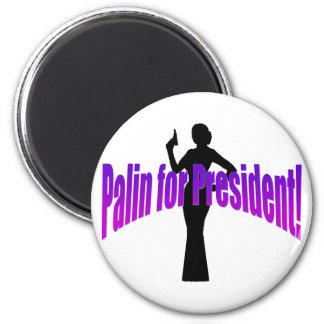 ¡Palin para el presidente! Imán Redondo 5 Cm
