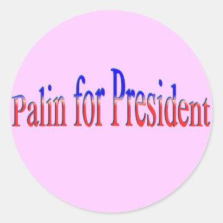 ¡Palin para el presidente! Etiqueta Redonda