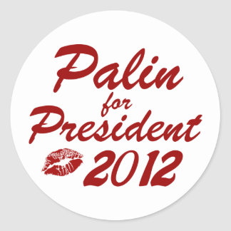 Palin para el presidente pegatina redonda