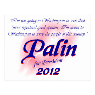 Palin para la postal 2012 de Prez
