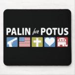 Palin para POTUS Alfombrilla De Raton