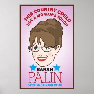 Palin, poster del tacto de la mujer