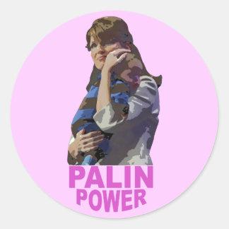 Palin Power Classic Round Sticker